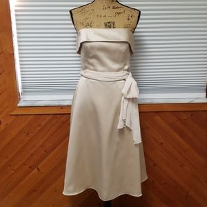 White house black market size 10 light gold dress